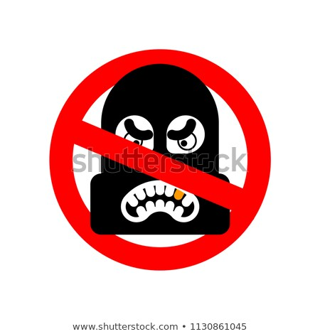 Pare ladrão não proibido ladrão vermelho Foto stock © popaukropa