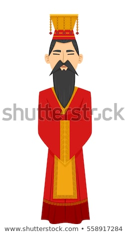 Man Chinese Emperor Costume Stock photo © lenm