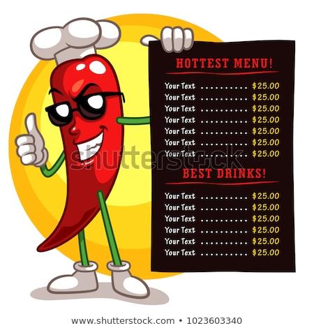 chef pepper cartoon character stock photo © krisdog