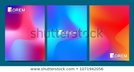 Posters Mock-up with Vibrant Color Gradient Backgrounds Stock photo © molaruso