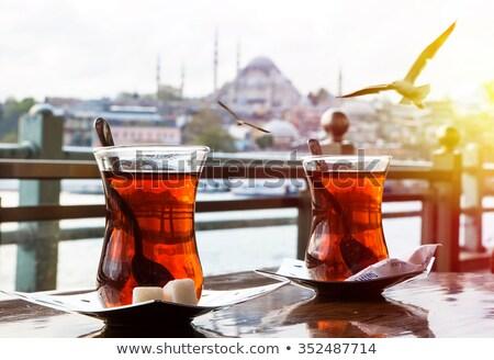 Turco chá istambul tradicional maçã cityscape Foto stock © Givaga