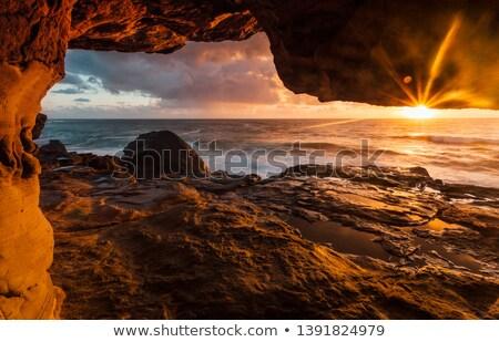 Foto stock: Luz · solar · dentro · caverna · ilustração · sol · arte