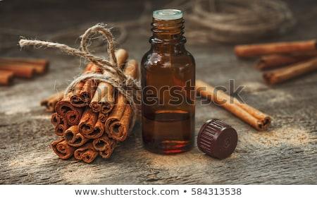 Canela monte fresco aromático garrafa Foto stock © bdspn