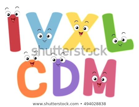 Mascots Roman Numerals Numbers Stock photo © lenm