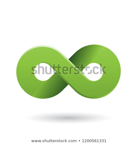 Green Shaded and Thick Infinity Symbol Vector Illustration Stock photo © cidepix
