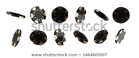 Closeup of golden chips Stock photo © dash