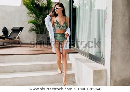 фото модный купальник солнце Сток-фото © deandrobot