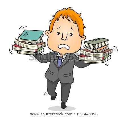 néhány · könyvek · csíkos · papír · iskola · terv - stock fotó © lenm