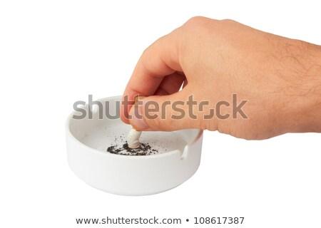 сжигание · сигарету · иллюстрация · конец · белый · здоровья - Сток-фото © robuart