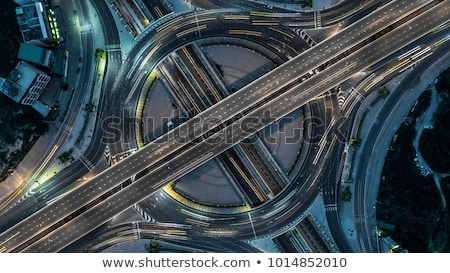 Aerial view of the motorway in central Bangkok at night, Thailand Stock photo © Ainat