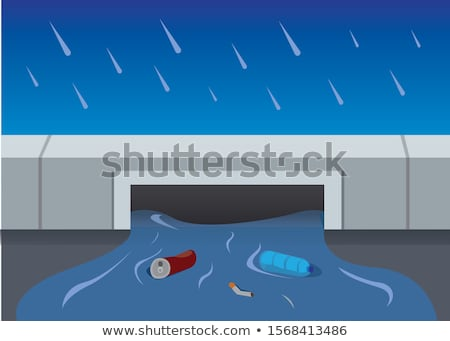 Rain Causing Flood Illustration Stock photo © artisticco