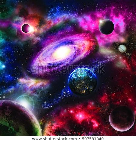 espace · exploration · scène · illustration · lune · fond - photo stock © bluering