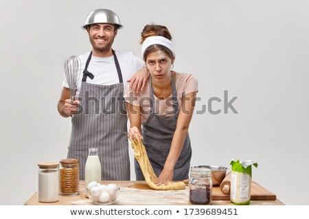 動揺 シェフ カップル 料理 一緒に キッチン ストックフォト © deandrobot