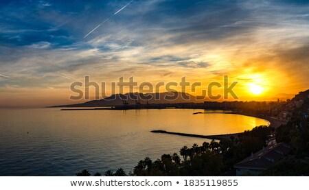 Panorama of Malaga at sunset Stock photo © benkrut