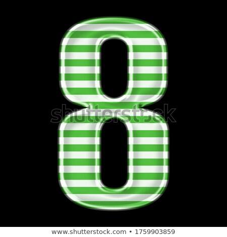 черно белые числа восемь 3D 3d визуализации Сток-фото © djmilic