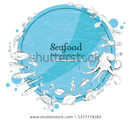 Sea Inhabitant Illustration for Seafood Restaurant Stock photo © robuart