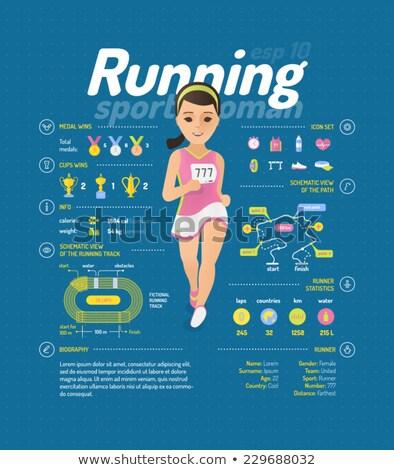 Fitness menina feminino corredor corrida Foto stock © MarySan
