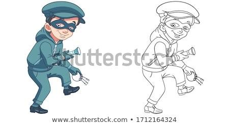 Cartoon sorridere ladro ragazzo kid persona Foto d'archivio © cthoman