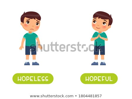 english vocabulary word hopeless stock photo © bluering