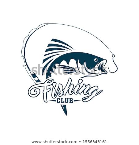 Balıkçı olta balık vektör ikon balık tutma Stok fotoğraf © robuart