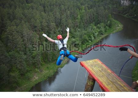 Férfi ugrik illusztráció égbolt ugrás fiú Stock fotó © adrenalina