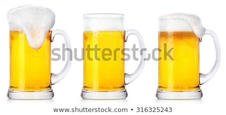 Hideg szemüveg világos sör sör hab harmat Stock fotó © DenisMArt