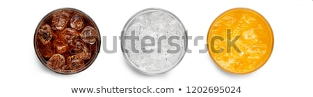 gafas · naranja · sosa · beber · blanco - foto stock © denismart