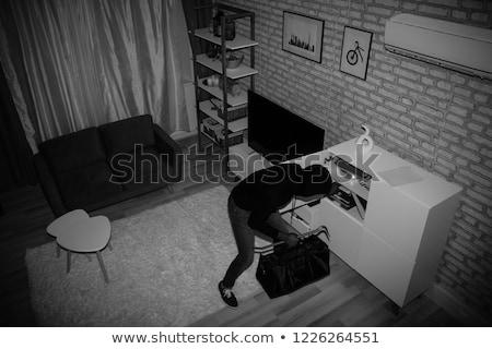 Ladrão saco casa ver suéter Foto stock © AndreyPopov