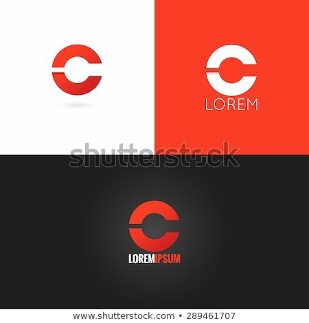Foto stock: Letra · c · logo · vector · signo · establecer · diseno