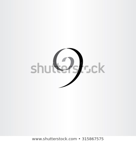 Stilizzato numero nove nero spirale icona Foto d'archivio © blaskorizov