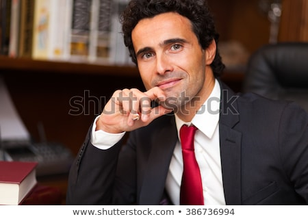 advocaat · studio · business · gezicht · man · werk - stockfoto © Minervastock