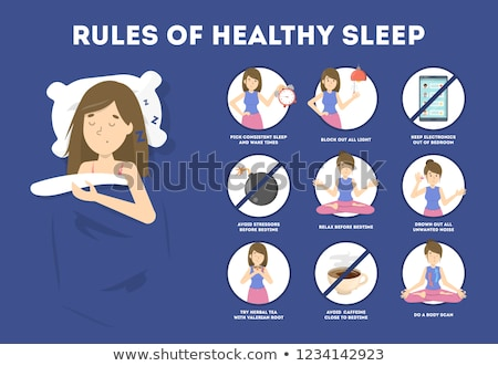 Pillow Vector. Healthy Sleep. Rest Symbol. Isolated Flat Cartoon Illustration Stock photo © pikepicture