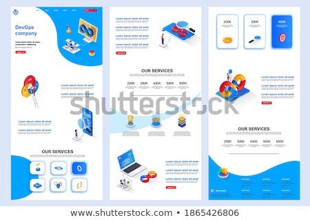 administration · tête · bannière · serveur · configuration · ordinateur - photo stock © rastudio