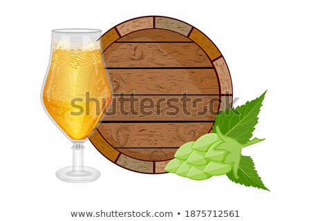 Oktoberfest Posters Set Keg of Beer and Ale Glass Stock photo © robuart