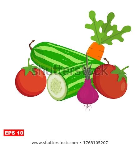 Dobozos cukkini poszter szöveg megőrzött étel Stock fotó © robuart
