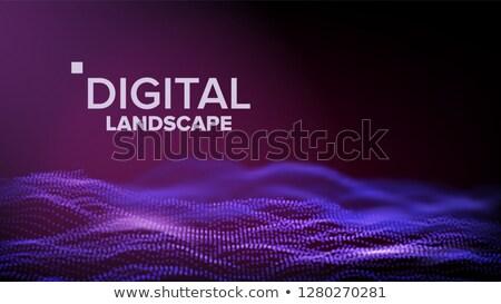 ストックフォト: データ · 風景 · ベクトル · エネルギー · スペース · トポグラフィー