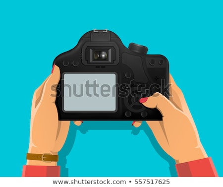 photographers with modern digital cameras banners stock photo © robuart