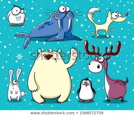 sad cartoon walrus stock photo © cthoman