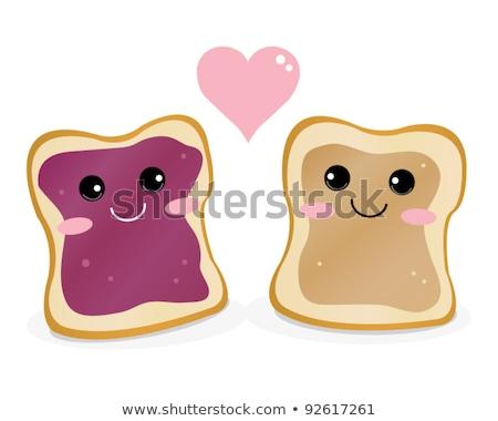 Pindakaas gelei sandwich top vruchten Stockfoto © Alex9500