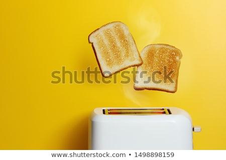 赤 トースター トースト クローズアップ 女性 作業 ストックフォト © AndreyPopov