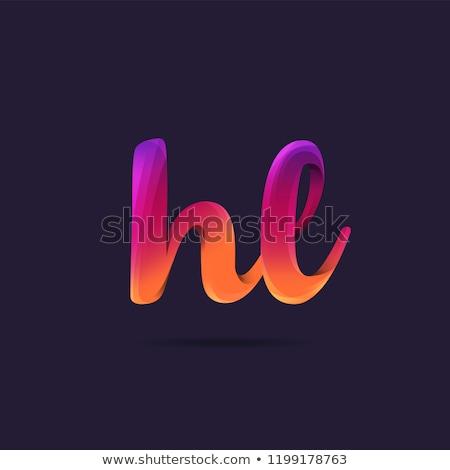 Színes l betű logotípus felirat szimbólum alkotóelem Stock fotó © blaskorizov