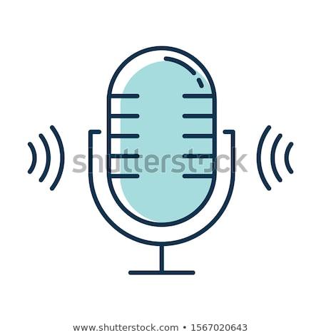 colorful microphone logo icon vector stock photo © blaskorizov