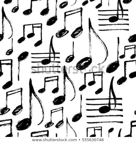 Music Notes, Notation Sketches Seamless Pattern Stock photo © robuart