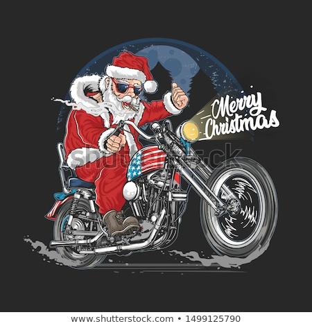 陽気な クリスマス サンタクロース 休日 サンベッド 色 ストックフォト © robuart