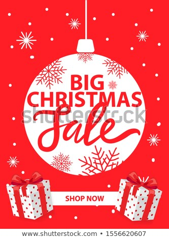 Christmas Sale, Shop Now Leaflet with Lettering Stock photo © robuart