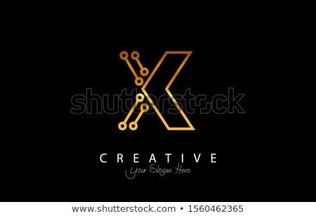 Linha carta colorido logotipo vetor ícone Foto stock © blaskorizov