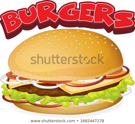 cheeseburger · cartoon · clipart · illustrazione · hamburger · alimentare - foto d'archivio © colematt