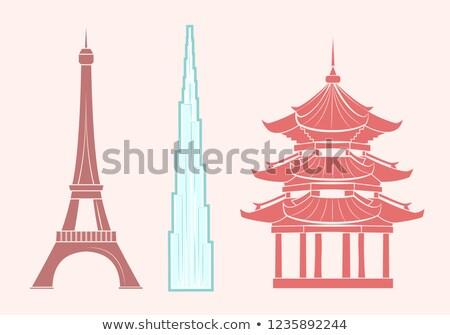 Tour · Eiffel · France · silhouette · noir · repère · Paris - photo stock © robuart