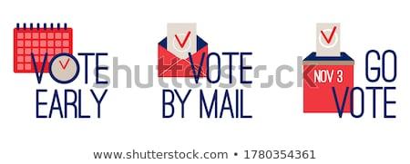 Envelope votação cédula conjunto vetor corações Foto stock © robuart