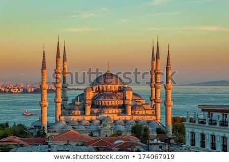 синий мечети Стамбуле Турция облака морем Сток-фото © Givaga